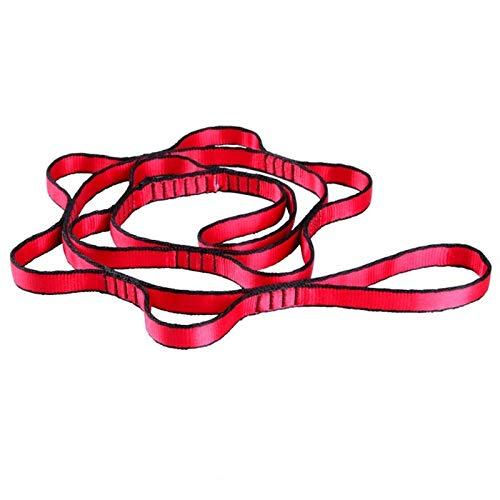 Yoga Gürtel Hängendes Seil Klettern Seil Chrysantheme Yoga Stretch Gürtel Extender Strap Seil für Luft Yoga Hängematte Swing Fliegen Anti-Gravity (Color : 1 PCS red)