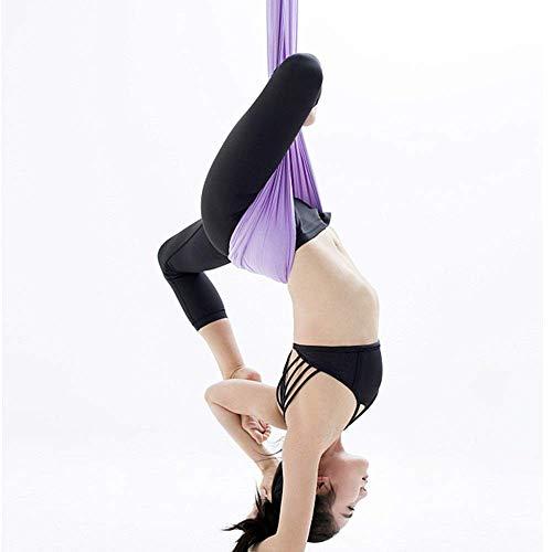 Heiter Yoga Hängematten Yoga Center Anti-Gravity Aerial Hängematte Stretch Strap Shoulder Strap Stretch Tuch Satin Sie können in Yoga Back Bend Position längere Zeit ohne Müdigkeit für Home Indoor-Fit