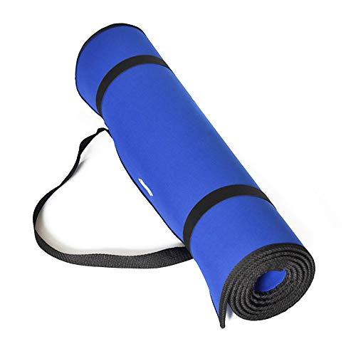 diMio Yogamatte Gymnastikmatte Rutschfest mit Tragegurt, phthalatfrei + SGS-geprüft (Schwarz, 200 x 100 x 2...