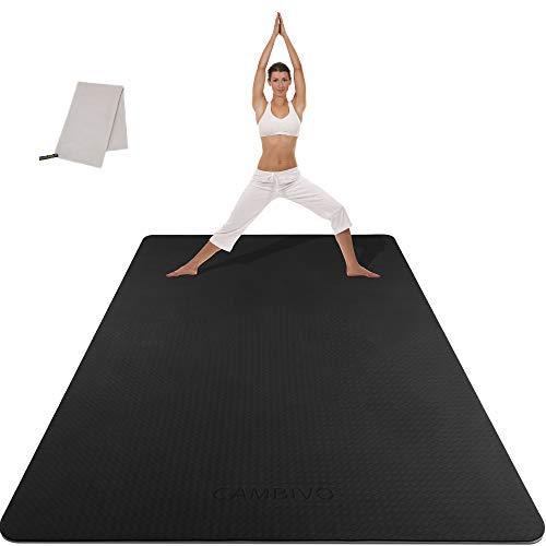 CAMBIVO Yogamatte, Gymnastikmatte extra groß(183cm x 122cm x 6mm), rutschfeste TPE Fitnessmatte Sportmatte mit Handtuch für Gym, Yoga, Pilates, Zuhause