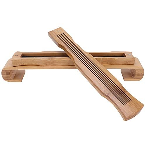 Hapivida Bambus Räucherstäbchenhalter Premium Räuchergefäß Brenner Aschefänger Perfekt als Meditationszubehör oder Yoga Raumdekor