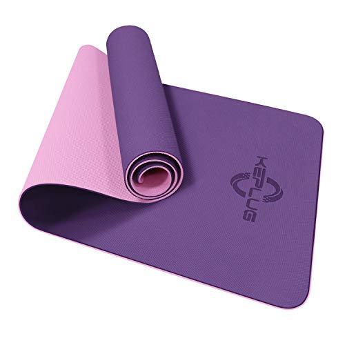 KEPLUG Yogamatte rutschfest, Sportmatte Dicke TPE umweltfreundlich geruchlos, Fintnissmatte für Yoga,...