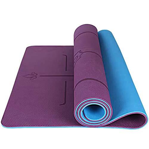 YXJBD Matte für Yoga Dicke Premium-Yoga Non-Slip Absorbent und hitzebeständig yogamatte naturkautschuk (Color : Deep Purple 1, Size : 185x80x1cm)
