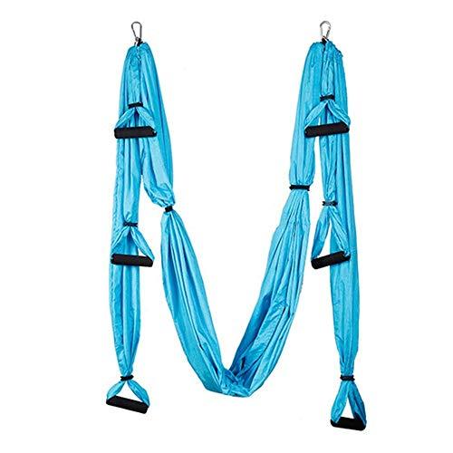 Heiter Yoga Hängemock Aerial Yoga Hängematte Indoor Parachute Tuch Qualität eignet sich sehr, um die Kernstärke zu entwickeln, um einen professionellen Übungstrainer für Ihre Familie für die Home-Inne