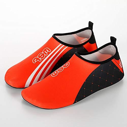 ReedG Wasserschuhe Frauen Männer Outdoor-Tracking-Schuhe Schwimmen Yoga Sportlaufband Schuhe Schwimmen Strandschuhe (Color : Orange, Größe : 44-45)