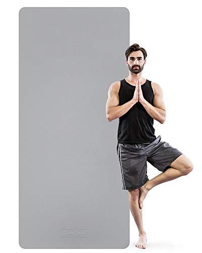GymCope Sportmatte Fitnessmatte rutschfest, Yogamatte Extra Lange, Breit und Dicke (200cm x 90cm x 8mm), Trainingsmatte rutschfest Groß aus TPE für Gymnastik, Yoga, Pilates, Sport, Zuhause