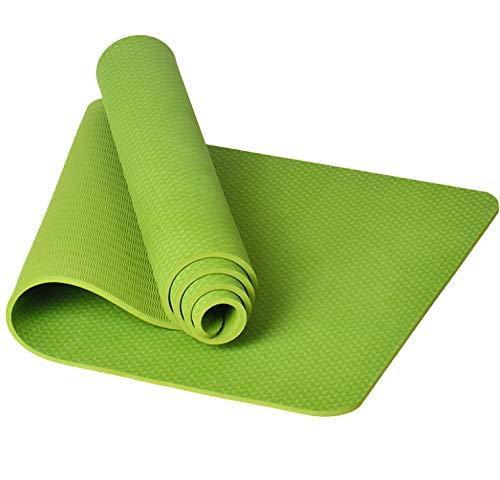 NAXIAOTIAO TPE Yogamatte Lange Dicke Tanz-Fitnessmatte Rutschfeste, geruchlose grüne Yogadecke,Green
