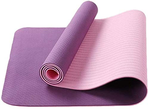 EIIDJFF Yogamatten für Zuhause, doppelseitig, einzigartiges Muster, schön und rutschfest, weich und bequem (Farbe: E)