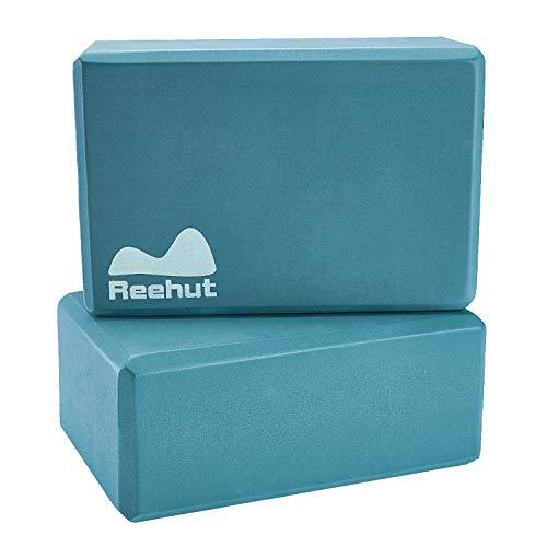 REEHUT Yoga Block - YogaBlock Kork und Yoga Blöcke aus Eva-Schaum für Yoga oder Pilates Meditiation und...