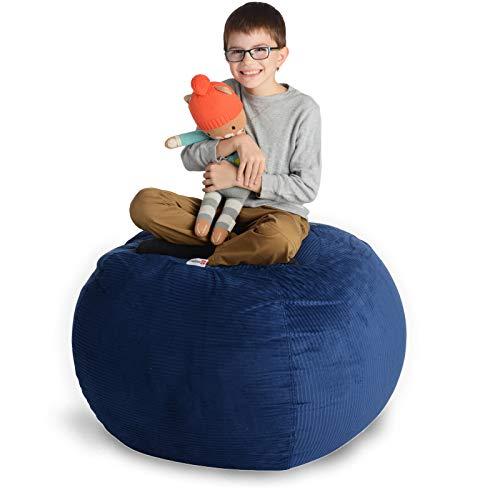 Creative QT Stofftier Lagerung Sitzsack Stuhl - Standardmaterial und Sitzorganisation für Kinder Spielzeug-Speicher in einer Vielzahl von Größen und Farben 38' Royal Blue Corduroy