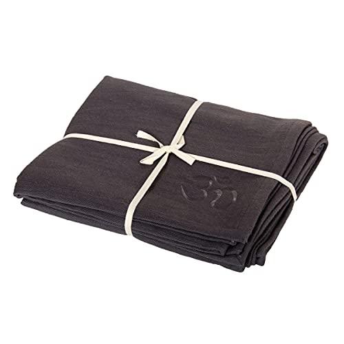 Yogadecke SHAVASANA robuste Baumwolle, grau