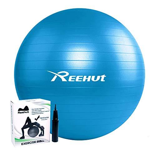 REEHUT Gymnastikball Sitzball Yoga Ball Pilates Ball Fitnessball Anti-Burst inkl Pumpe mit Belastbarkeit bis zu 500kg Core-Training Fitness…