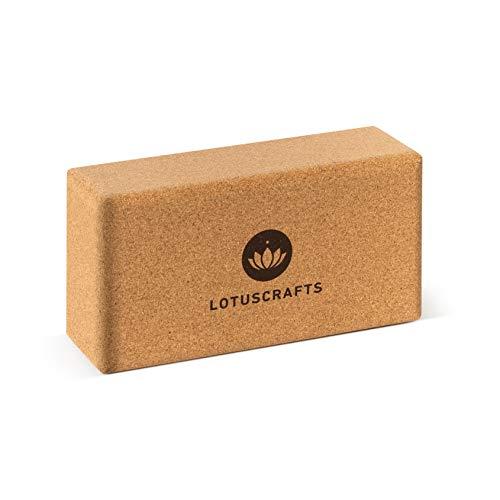 Lotuscrafts Yogablock Kork Supra Grip - ökologisch hergestellt - Yogaklotz aus Naturkork - Korkblock für...