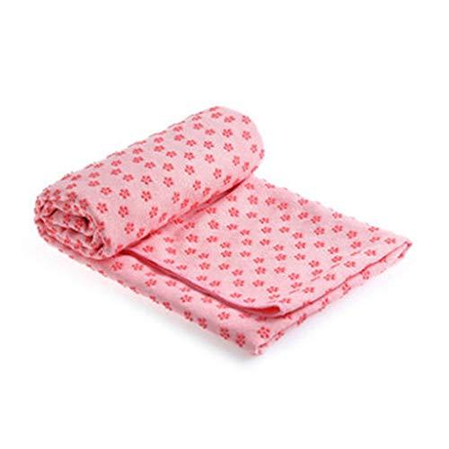 Nikunty Yoga-Matte Slip Yoga Handtuch in Pflaume saugfähig von Muster Schweiß