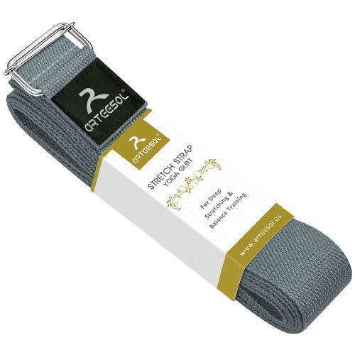arteesol Yoga Gurt, Yoga Strap/Yogaband mit Schiebeschnalle aus Metall für Anfänger und Fortgeschrittene,...