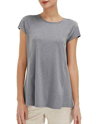 SPECIALMAGIC Trainieren T-Shirt Damen Yoga Tops Sport Ultimativ Kurzarm Aktive Lauffähigkeit Grau L