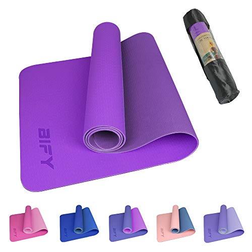 BIFY Yogamatte rutschfeste Gymnastikmatte Premium Umweltfreundliche Trainings-Fitnessmatte für Pilates...