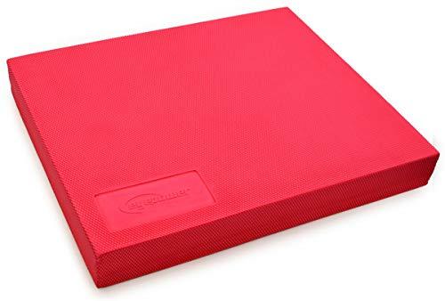EYEPOWER Balance Pad 48x40x6cm TPE Board Gleichgewichts Matte Yoga Kissen Rot