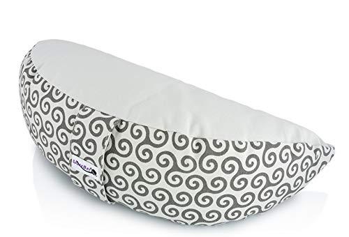 SPACEBAY Meditationskissen Halbmond - Harmonisches Yoga Kissen für bequemes aufrechtes sitzen mit...