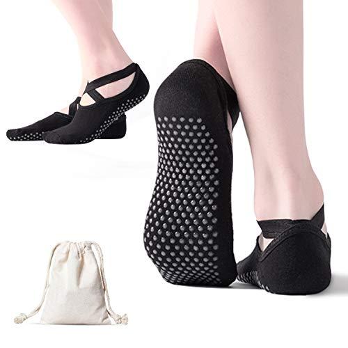 AmazeFan rutschfeste Yoga Socken für Damen, Ideal für Pilates, Outdoor Sport Workout Strümpfe mit...