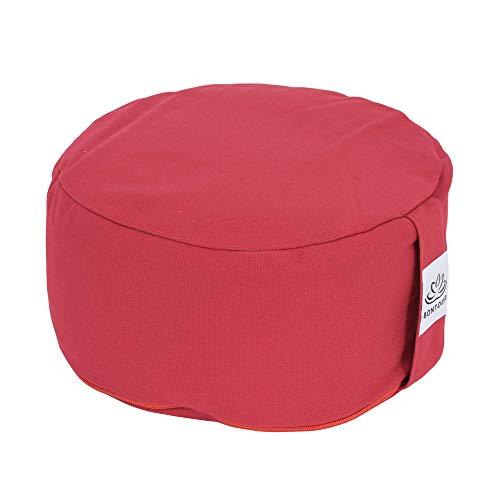BONTOUR Yogakissen Meditationskissen Rund mit Waschbarer Bezug aus Baumwolle, Yoga Sitzkissen mit...