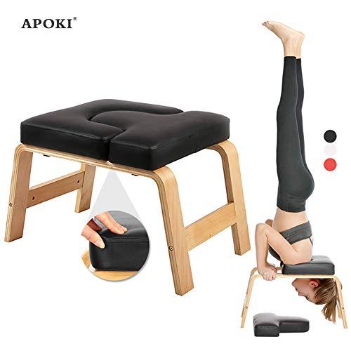 APOKI Yoga Kopfstandhocker,Safe Yoga Kopfstandstuhl,Pu.Unterstützt Bis Zu 200 Kg,Yoga Hilft Trainingsstuhl...