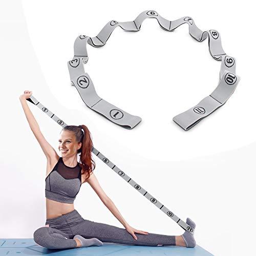 Stretching Band,DEHUB Stretch Band Gymnastikband mit 11 Schleifen,Yoga Stretch Gurt,Leicht zu Tragender und Hochelastischer Widerstandsbänder,Deal für Yoga, Körperliche Therapie, Größere Flexibilität