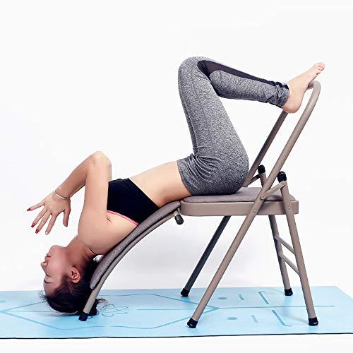 Kopfstandhocker Kopfstand-Yogastuhl, Safe Yoga Kopfstandstuhl Yoga Kopfstand Hocker Inversions Stuhl Kopfstand Bank Unterstützt Bis Zu 220 Kg Yoga Stuhl abnehmbar Hilfe Trainer ,Withlumbarsupport