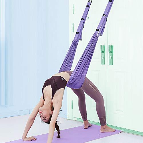XiYee Yoga-Hängematte, Trapezschaukel Set, Yoga Schaukel Nylon Anti-Schwerkraft Hängematte Schlinge Inversion für Pilates Gymnastik, Training vertikal Schaukel Akrobatik Tuch Stoffe Zubehör (A)