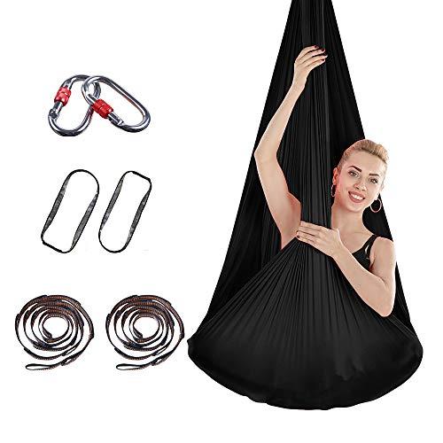 Cloud beauty Aerial Yoga Hängematten, 4m * 2.8m Premium Silk Yoga Schaukel für Antigravity Yoga,...