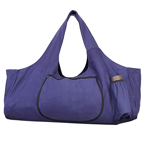 TENDYCOCO Yogamatten-Tasche Große Yogamatten-Tragetasche mit Seitentaschen und Reißverschlüssen - Lila