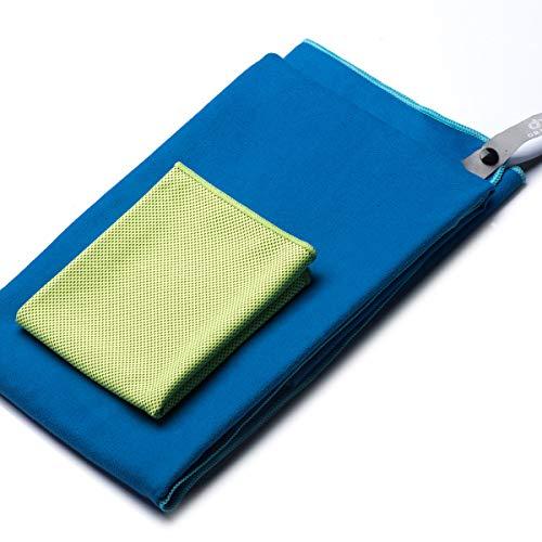 OriHea Sporthandtuch, Mikrofaser Handtücher mit Tasche 2er-Set, Schnelltrocknende, Ultra-Leicht, Microfaser...