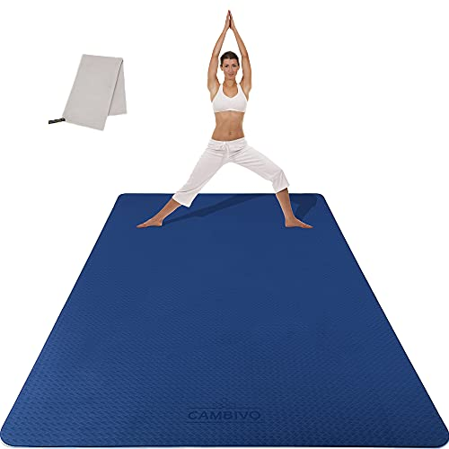 CAMBIVO Sportmatte Fitnessmatte Rutschfest, Gymnastikmatte Yogamatte XXL (183cm x 122cm x 6/8mm),...