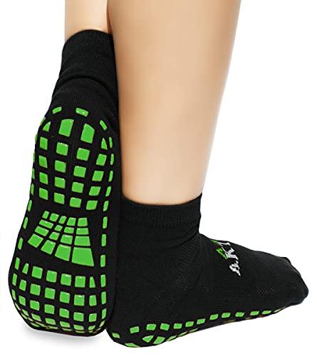 dunaro 2 Paar ABS Yoga Pilates Anti Rutsch Noppen Socken Stoppersocken Damen Herren (43-46)