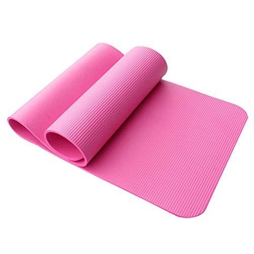 ABOOFAN Yoga-Matte dicke Yoga-Pad rutschfeste Yoga-Kissen Fitnessmatte (zufällige Farbe)