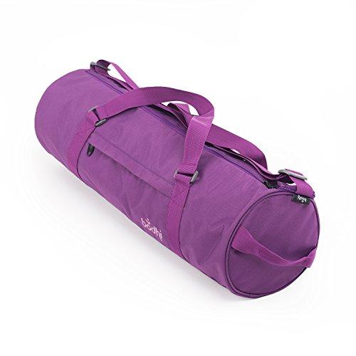 Yogatasche ASANA CITY BAG, aubergine, groß & geräumig, Yogamattentasche mit Schulterband und Handtrageband, spritzwasserfest