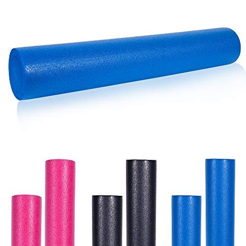 GORILLA SPORTS® Pilates-Rolle Schaumstoff 90 x 15 cm – Yoga Rolle zur Selbstmassage und Faszien-Training in Blau