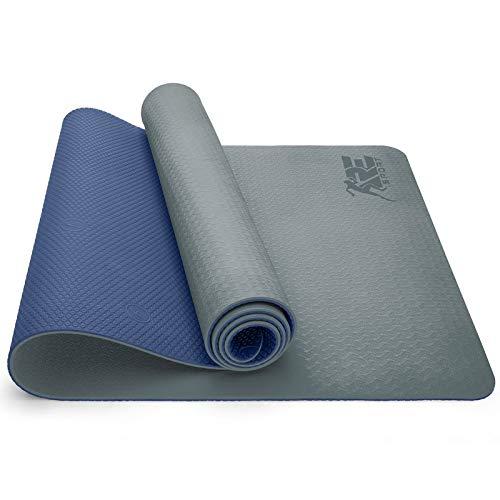 RE:SPORT Yogamatte Phthalatfrei - Gymnastikmatte rutschfest, Fitnessmatte schadstofffrei, Trainingsmatte mit...