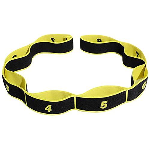 PPLAX Yoga Gürtel Yoga Pull Strap Gurt Widerstandsbänder Latex Elastische Dehnung Gymnastik Training Pilates Fitness-Übungswiderstandsbänder (Color : Yellow)