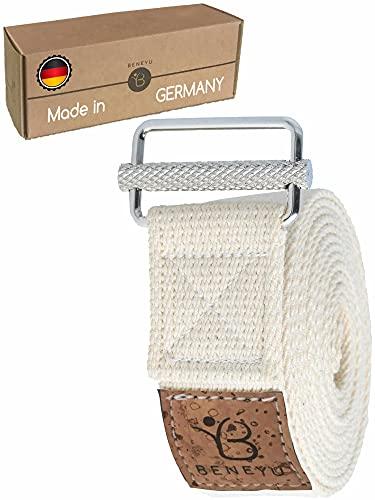 beneyu® Rutschfester Yoga Gurt - Der Yogagurt mit Einzigartiger Schnalle für Garantierten Halt - Perfekte...
