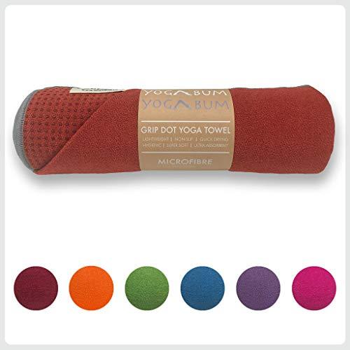 Yogabum Klassische Kollektion Anti-Rutsch Yoga-Matte Yoga Handtucher (Chili Pepper)