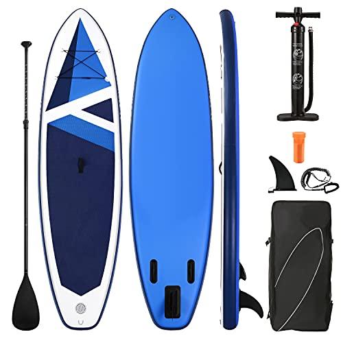 Stand Up Paddling Board 320x80x15cm SUP Board Aufblasbar mit Paddleboard Zubehör & Tragbarem Rucksack für...