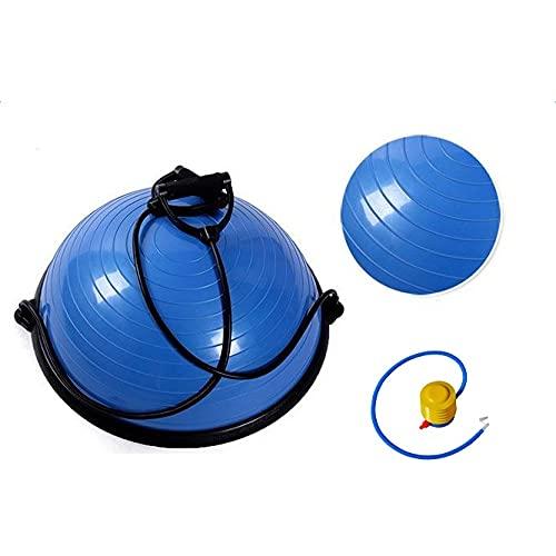 SCAYK Yoga Ball Balance Hemisphäre Fitness für Turnhalle Büro Home Blaue Übungsball Schwangerschaft Ball Mutterschaftsball