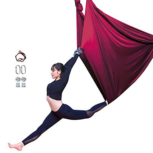 DTKJ Aerial Yoga Hängematte Aerial Yoga Fitness Tuch Set Air Fliegen Hängematte Set mit Montagezubehör für Antigravity Yoga, Inversionsübungen, Verbesserte Flexibilität Kernfestigkeit