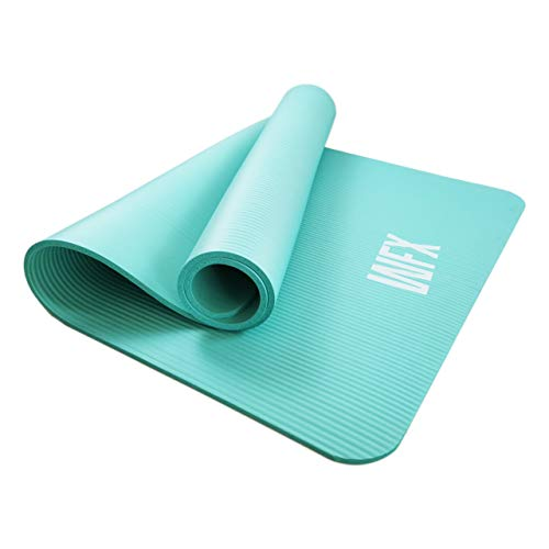 World Fitness - Fitnessmatte Yogamatte XXL »Ashanti« - 190 x 100 x 1 cm - rutschfest & robust - Gymnastikmatte ideal für Yoga, Pilates, Workout, Outdoor, Gym & Home - Türkis
