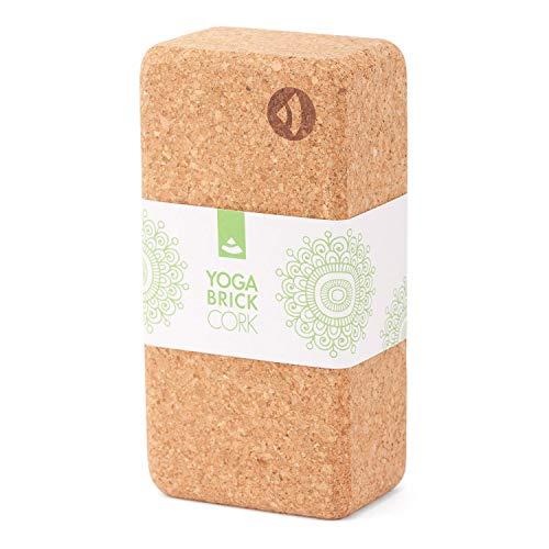 Bodhi Yoga Block Kork Brick / 100% Naturkork/Universal Cork Klötze / 22x12x7 cm