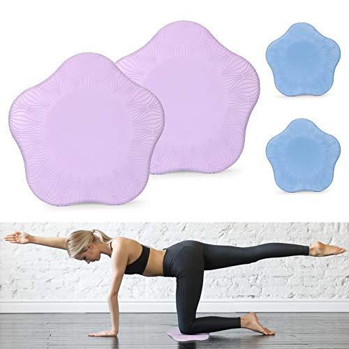 Wishstar Yoga Knie Pad, Kniekissen Yoga rutschfest, Kniepad Yoga für Zuhause Yoga Tragbar Geeignet für Yoga, Pilates und Gymnastik (Pack of 2)
