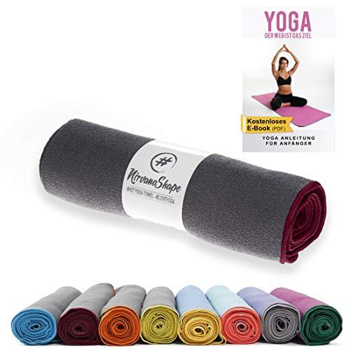 NirvanaShape ® Yoga Handtuch rutschfest | Hot Yoga Towel mit Antirutsch-Noppen | hygienische Yogatuch-Auflage...