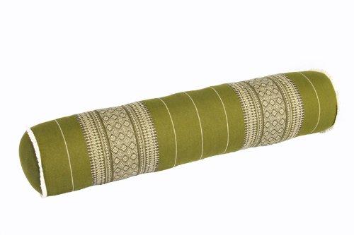 Handelsturm Thaikissen Rolle ca. 80x20 cm Kapok Yogarolle Kissenrolle für Massage oder Yoga Feste Nackenrolle...