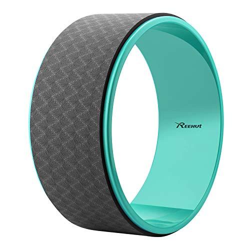 REEHUT Starkes Premium 32cm x 12cm Yoga Reifenroller, Hergestellt für Dharma Yoga Reifenposition, fürs Stretchen und Steigern der Rückendehnungen(Schwarz)